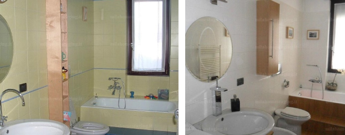 Photo gallery di mila home staging - Home staging bagno ...